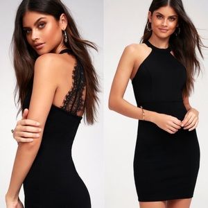 Lulus Endlessly Alluring Black Lace Bodycon Dress